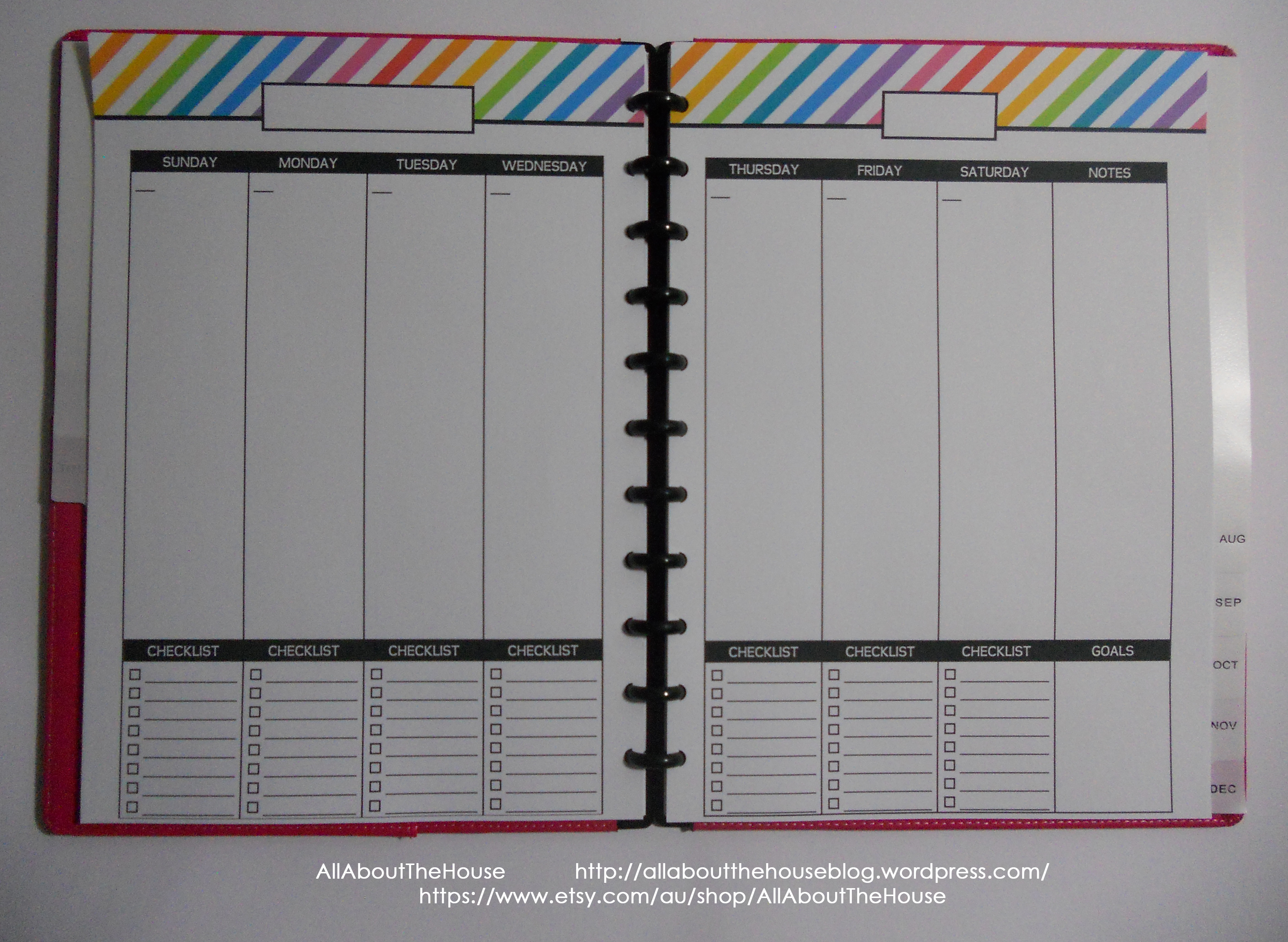 rainbow checklist undated