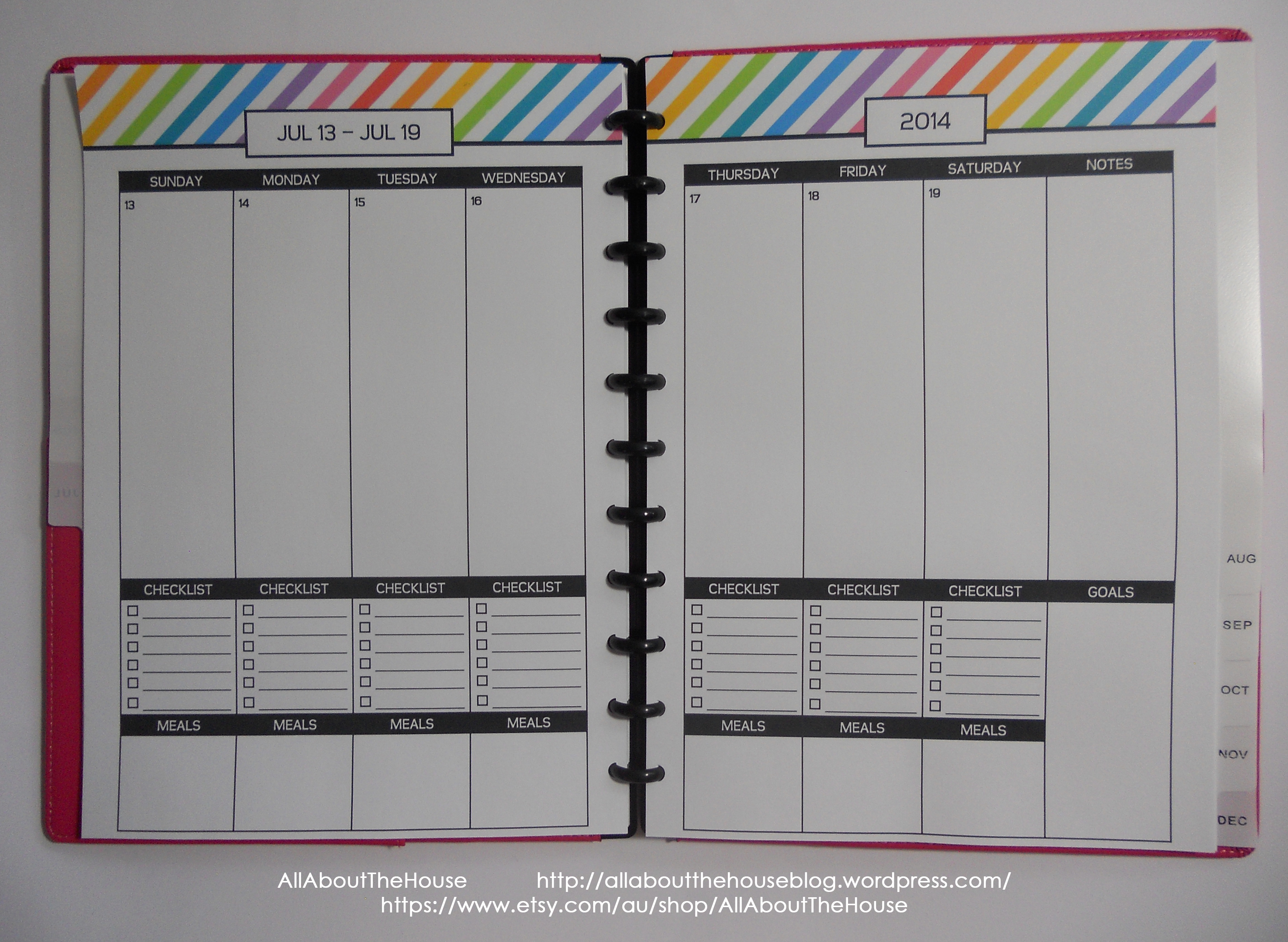 Rainbow Planner AllAboutTheHouse 2