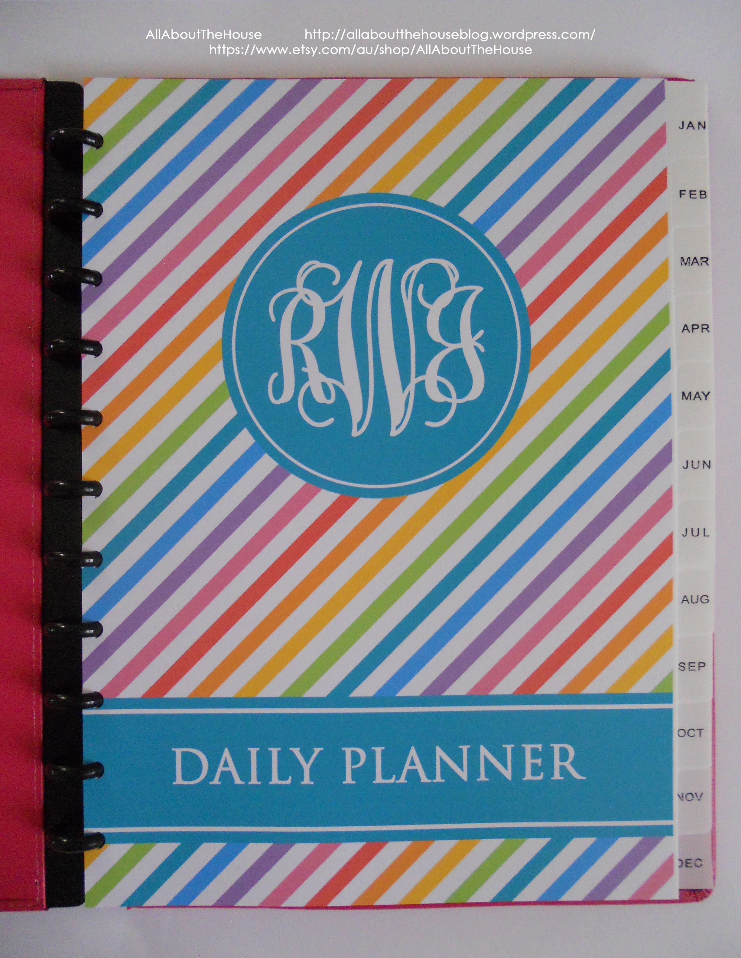 Rainbow Planner AllAboutTheHouse