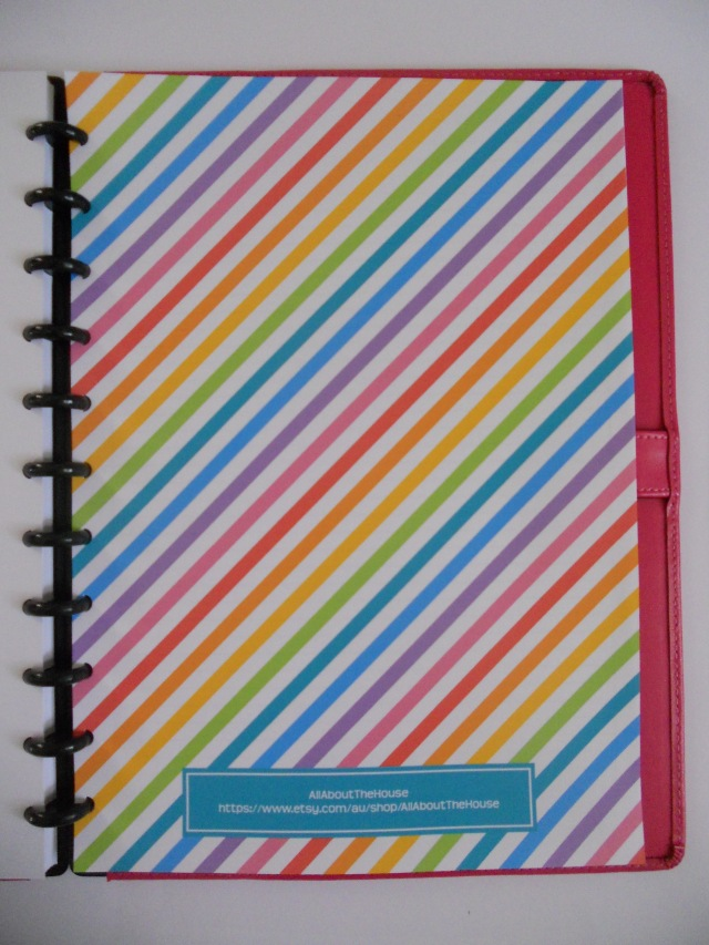 Rainbow Planner Back Cover