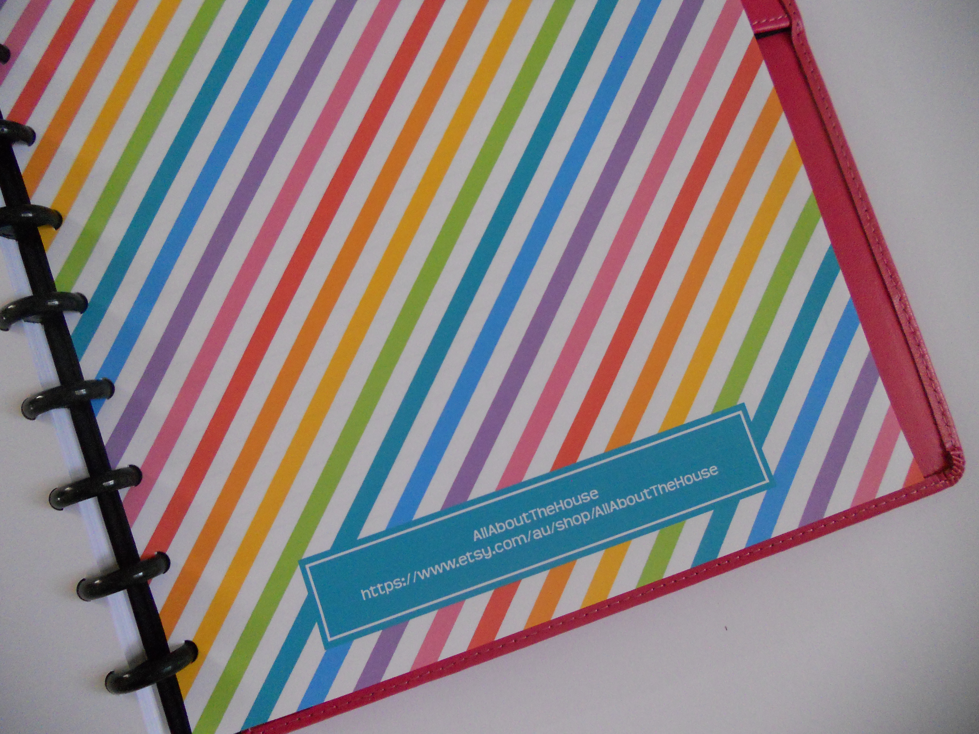Rainbow Planner Cover Printable