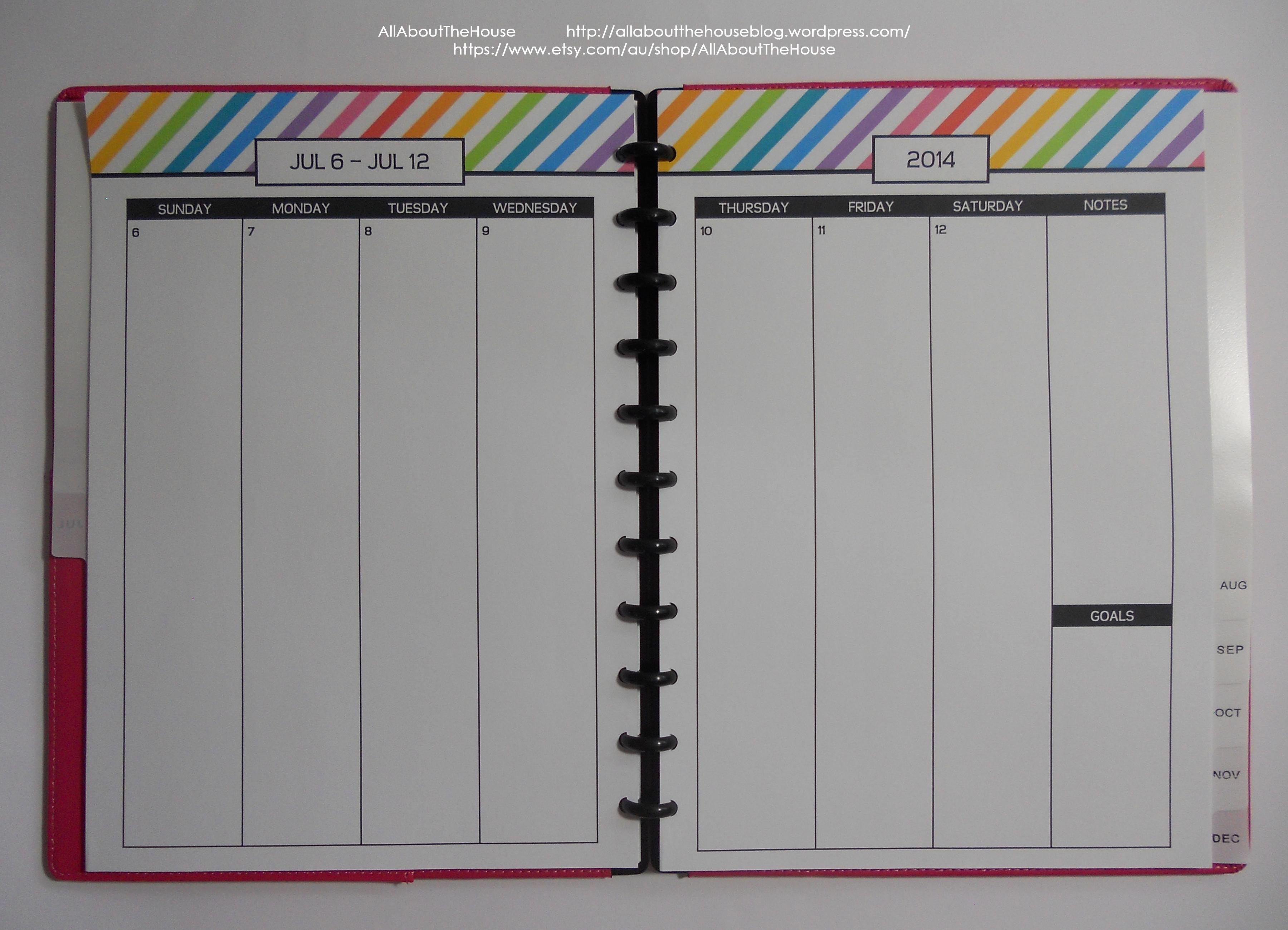 Rainbow simple planner