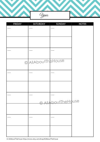 Student Planner Monthly Cal - L Blue(3)