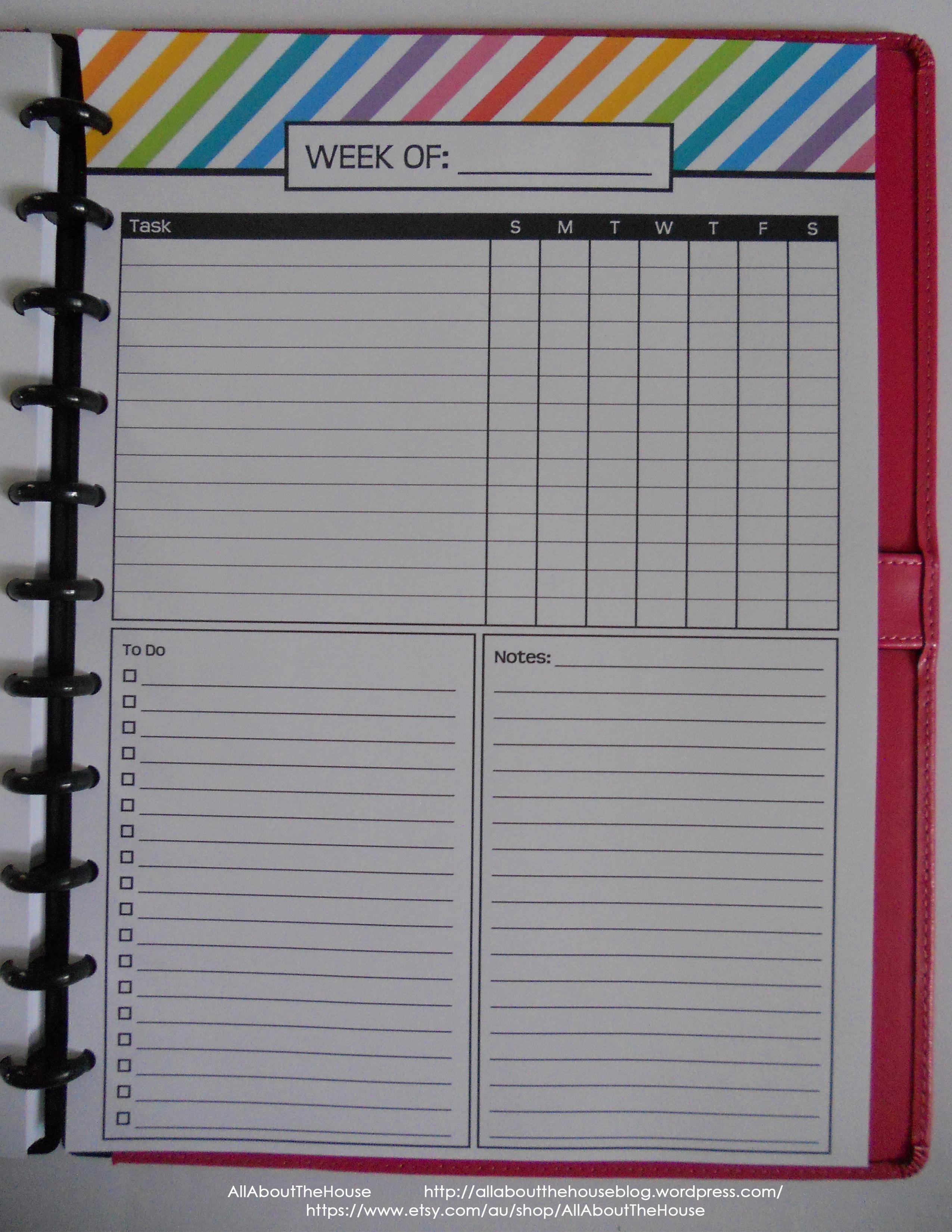 Weekly Planning - Rainbow Planner