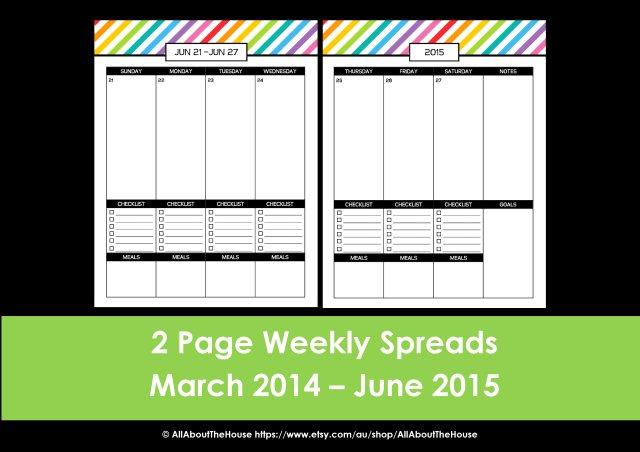 2014 2015 meal planner checklist