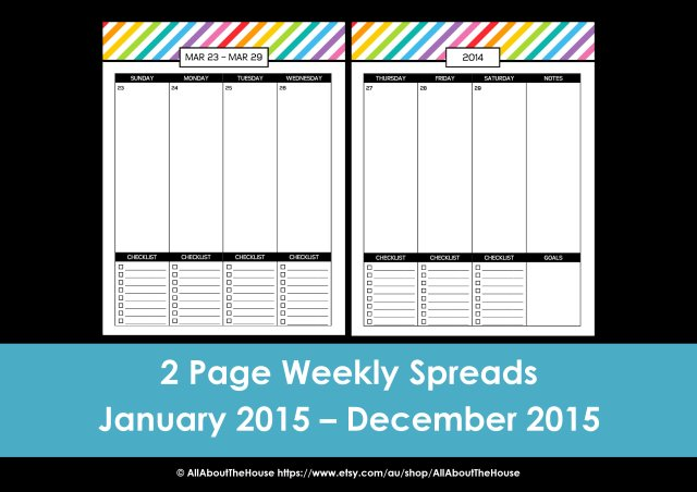 2015 checklist planner printable