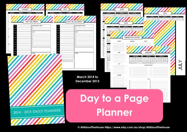 Day to a page planner