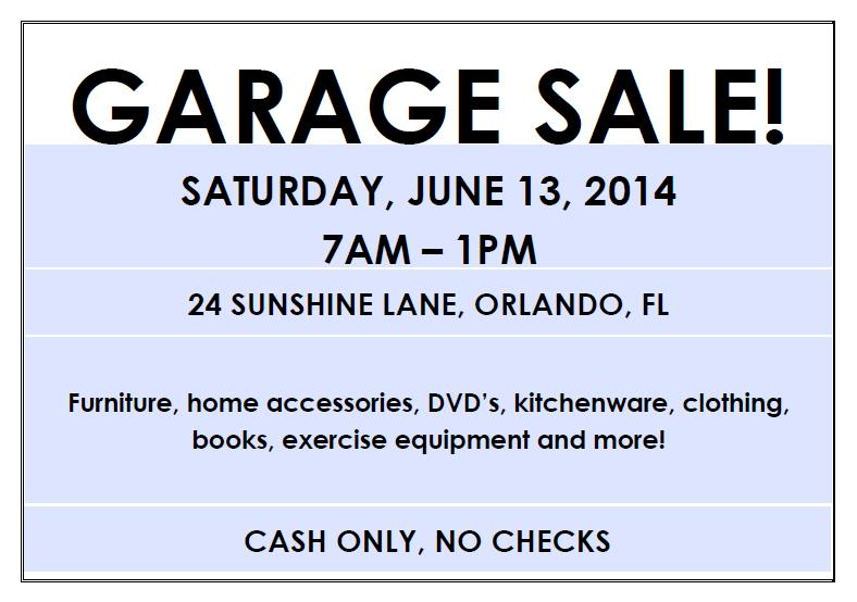 editable garage sale flyer