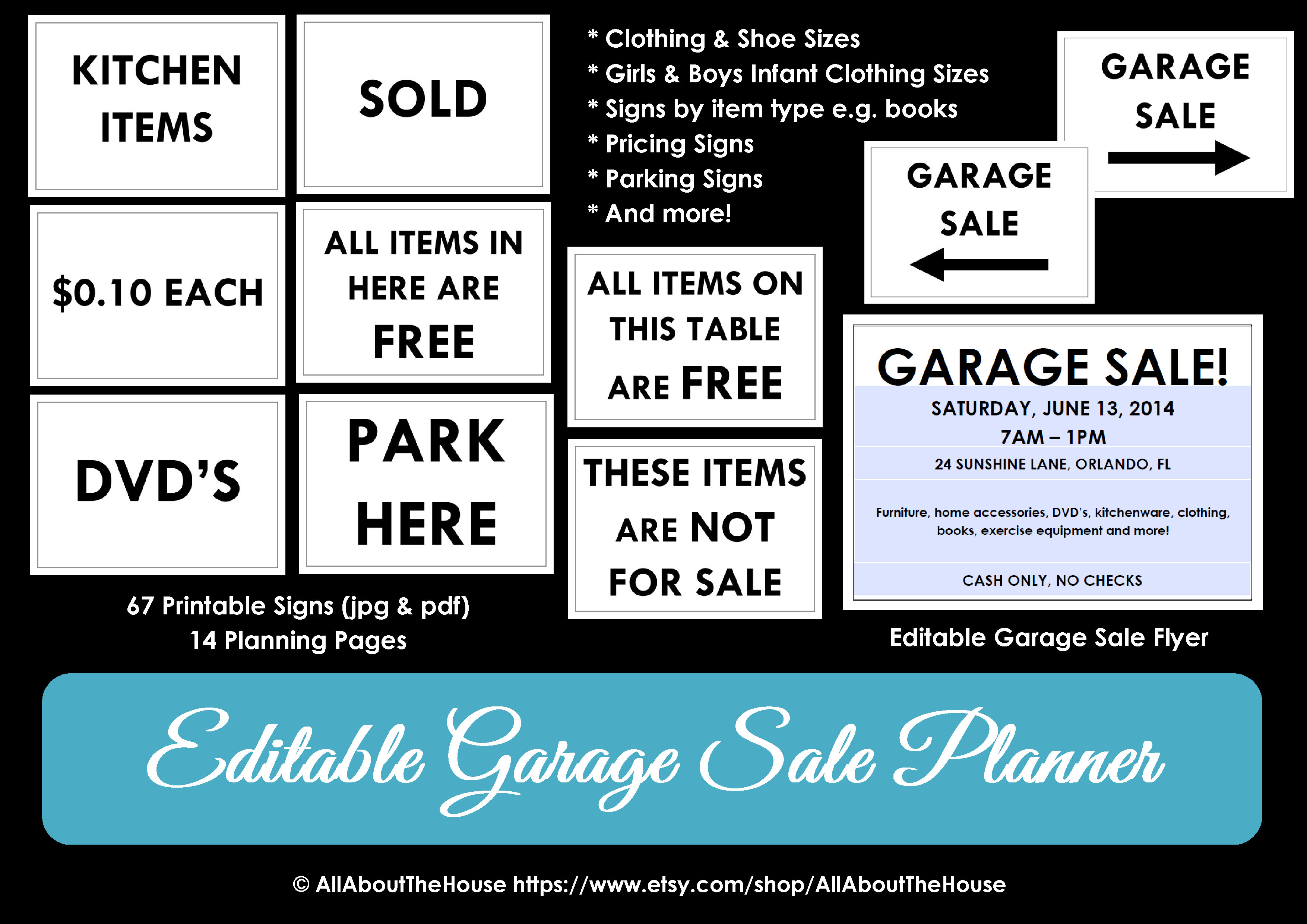 graphic about Printable Yard Signs known as printable garden sale signal AllAboutTheHouse Printables