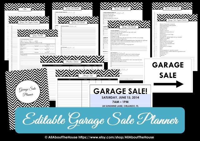 Garage sale planner yard sale