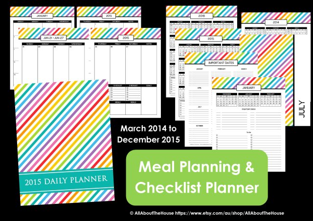 meal Planning checklist planner
