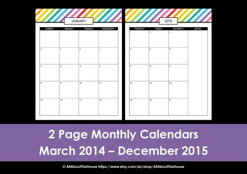 Printable day planner monthly calendar