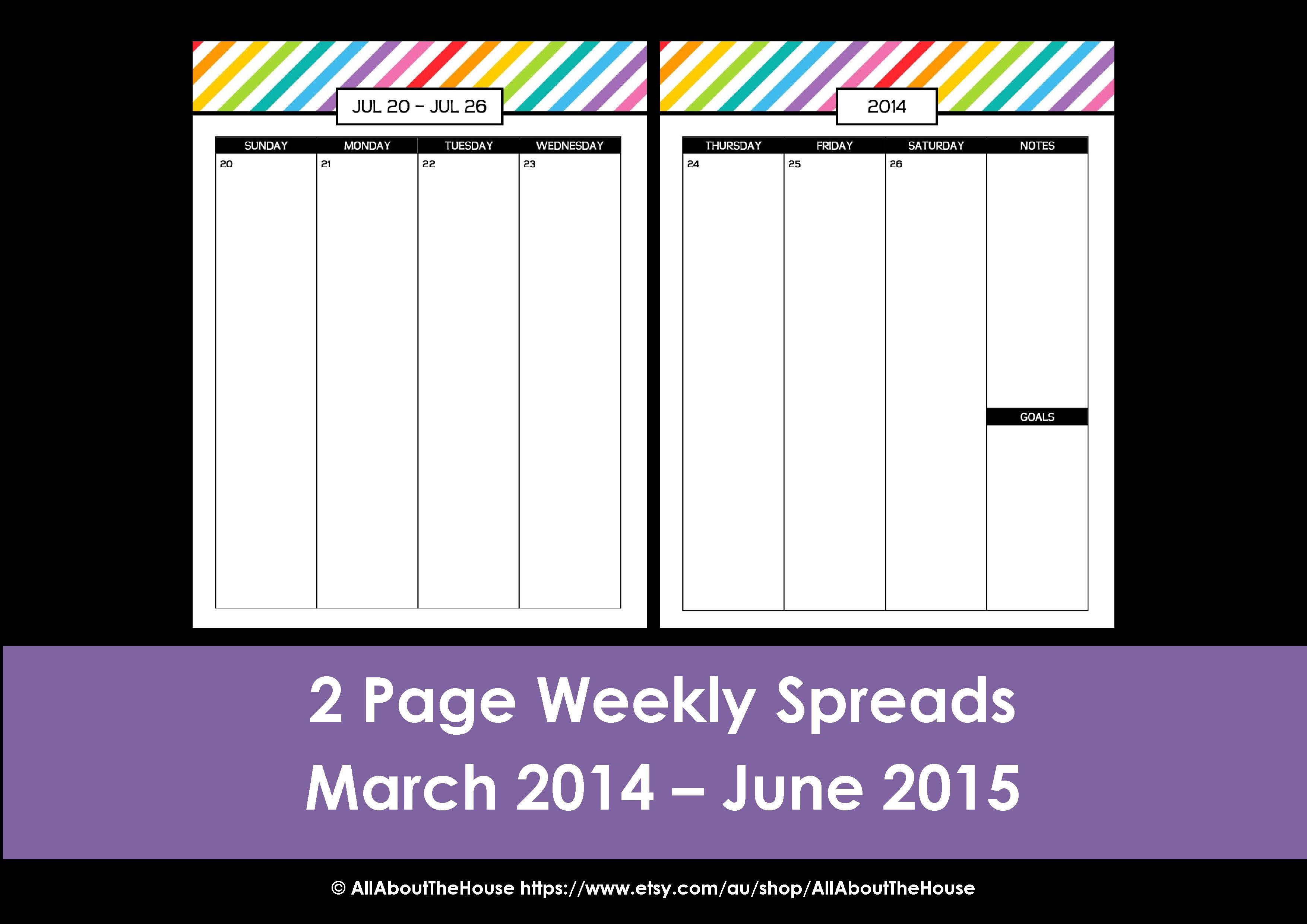 Rainbow Planner 2014 - 2015 Simple (3)