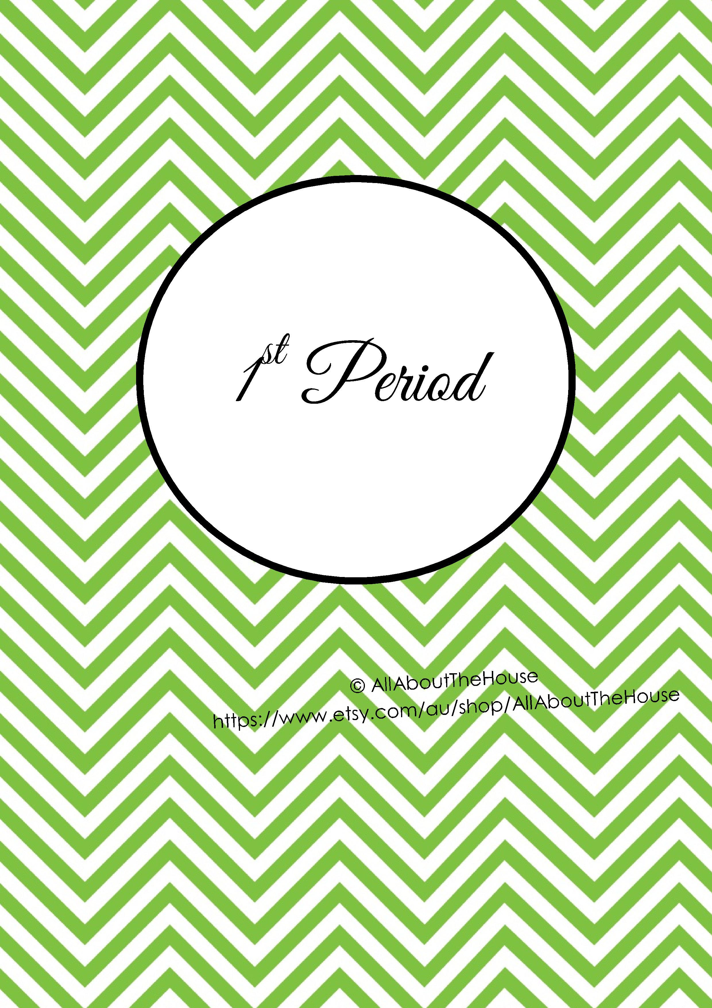 1st Period - Green