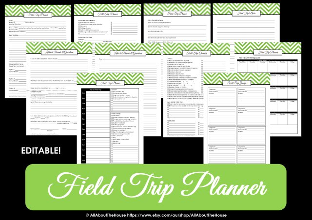 field trip planner - teacher planner