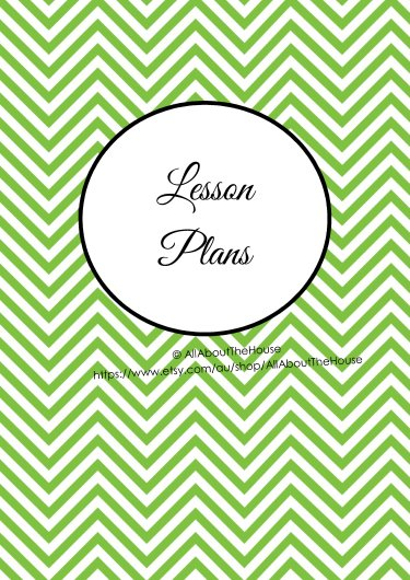 Lesson PLans Cover - Green