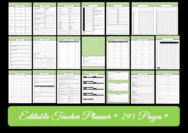 teacher planner printables field trip substitute binder cover lesson planner