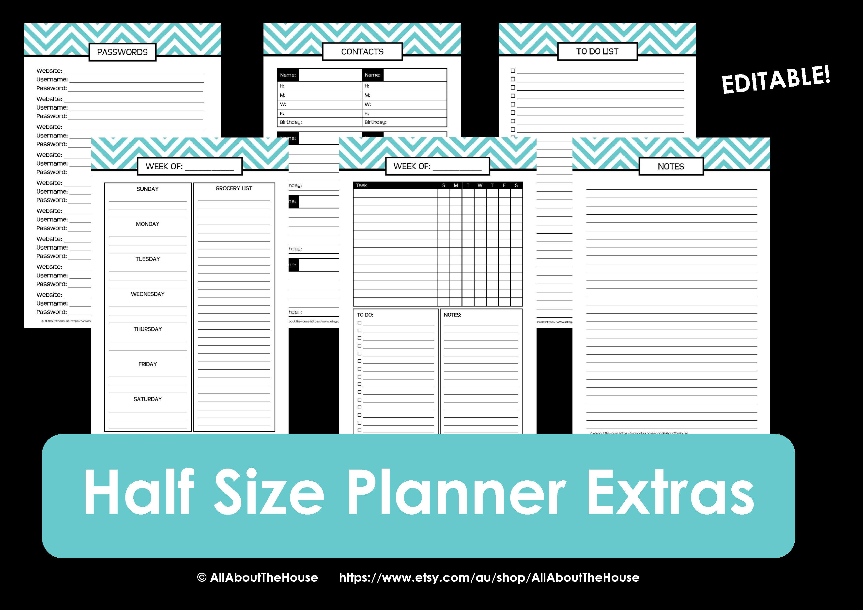 Calendar 2015 Free Printable Daily Planner Half-Size