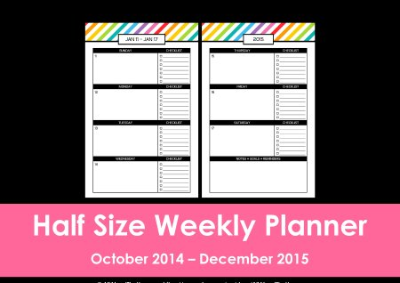 Half Size rainbow planner listing photo(26)