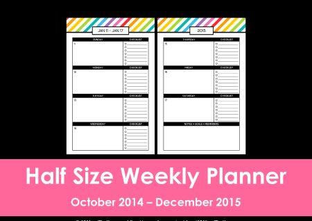 Half Size rainbow planner listing photo(26)
