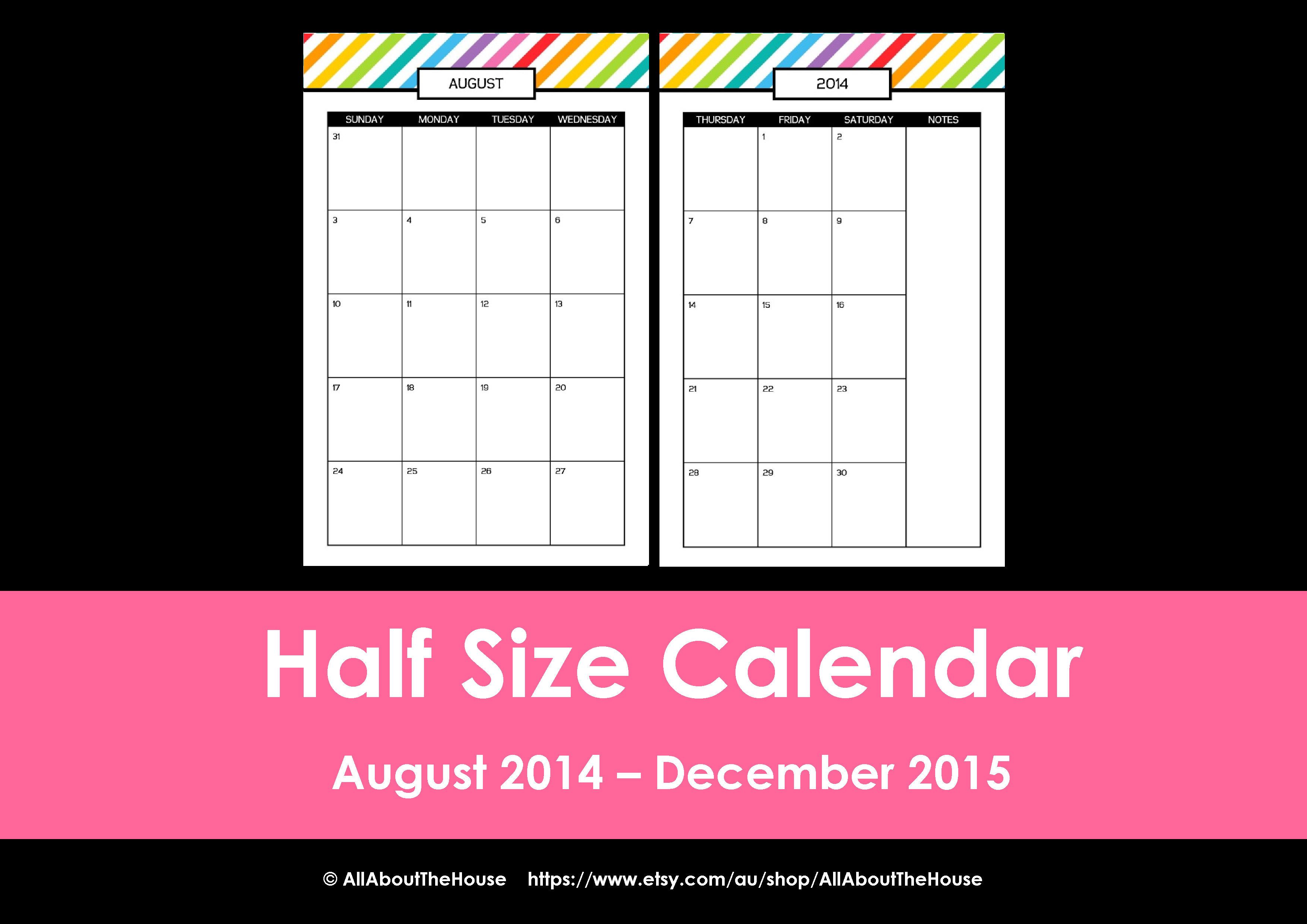 Half Size rainbow planner listing photo(33)