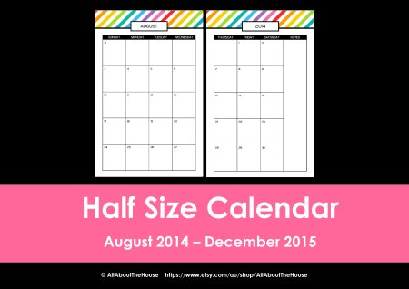 Half Size rainbow planner listing photo(33)