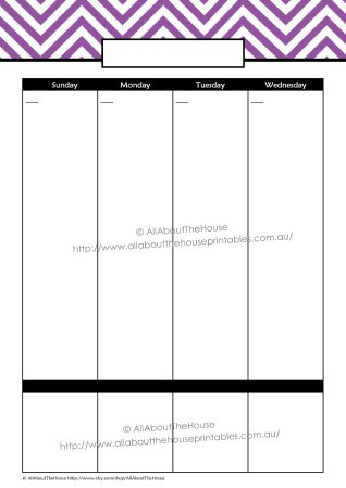2 Page Weekly Planner - DS - Purple(2)