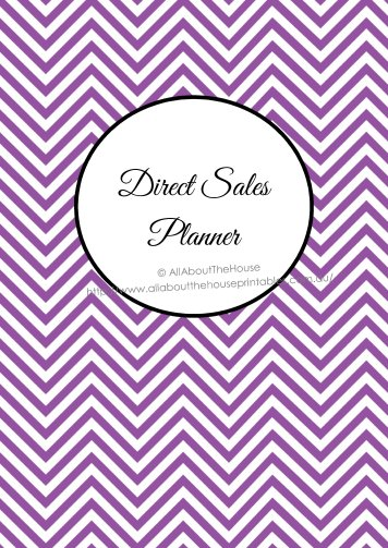 Direct Sales Planner Cover - binder printable preppy chevron purple editable scentsy origami owl pampered chef avon half size and letter size