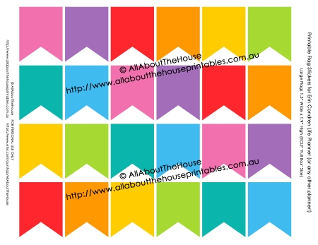 Full Box Flag Stickers - ECLP - v2 rainbow printable instant download
