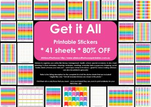 Get It All Printable planner sticker calendar sticker instant download bundle pdf rainbow organize your planner accessory money health reminder school special occasions events to do erin condren life planner eclp plum paper
