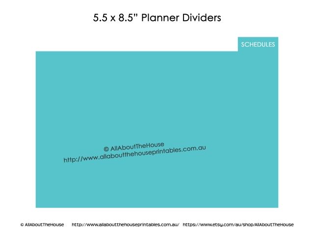Half Size Planner Dividers arc junior binder Customised example blue organizer home binder