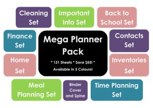 mega household binder printable planners